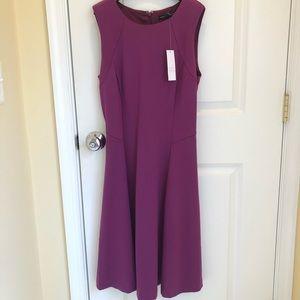 NWT White House Black Market WHBM fuchsia dress.